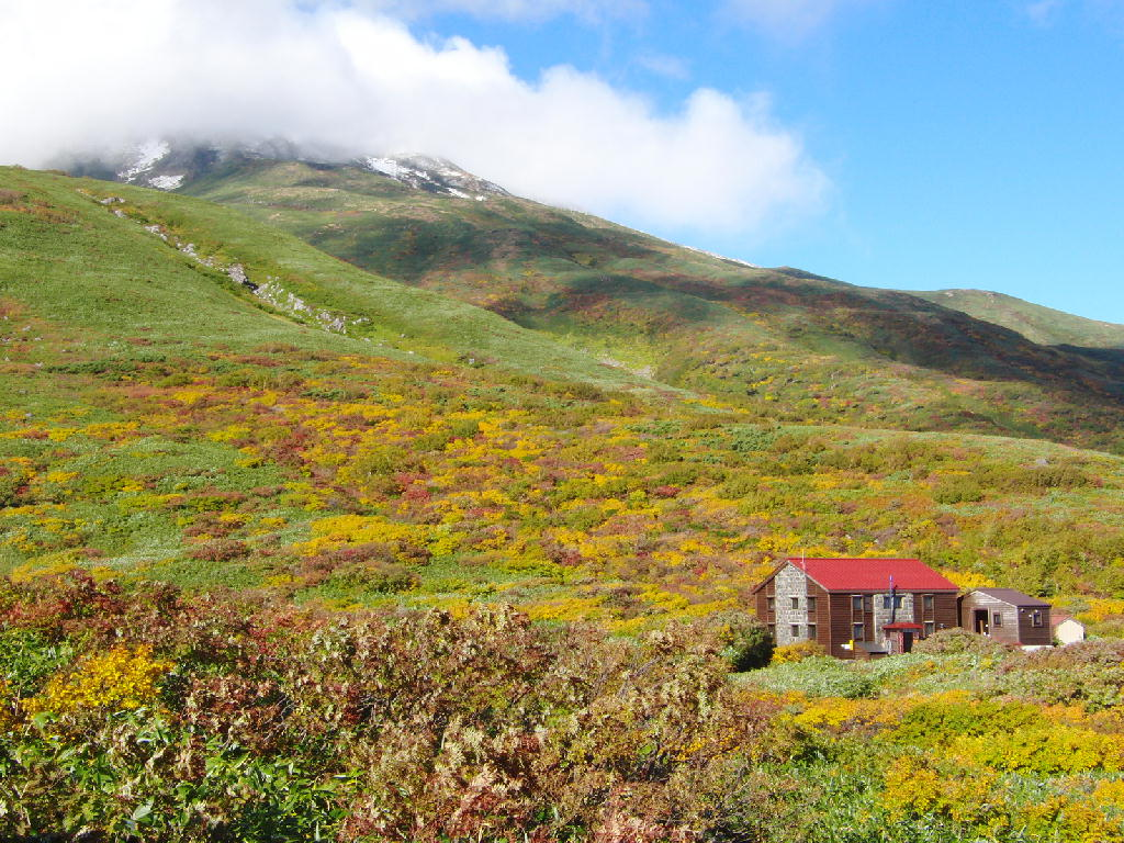 2012年10月13-14日の鳥海山 湯ノ台登山道 紅葉の風景