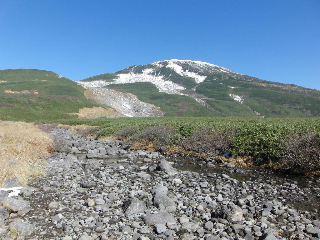 2012年10月27日の鳥海山 滝の小屋 河原宿
