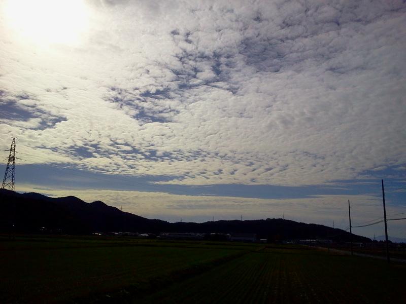 11月5日の鳥海山 八幡の山根地区から