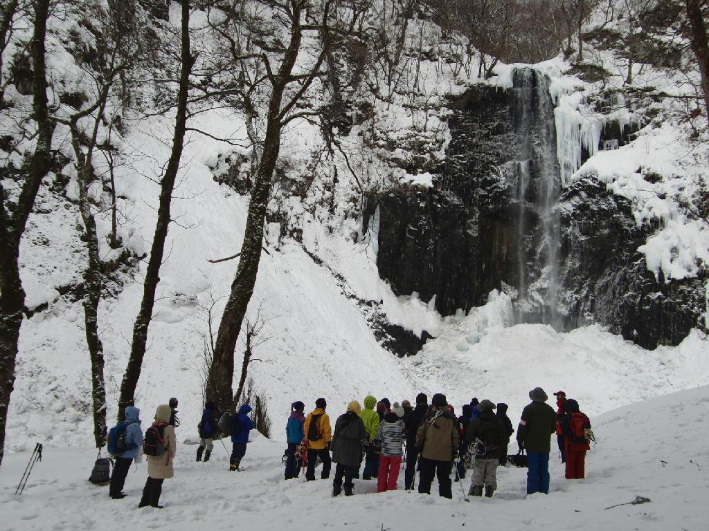 2013年2月3日の玉簾の滝 氷瀑ツアーの様子①